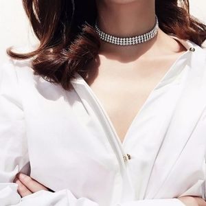 Crystal .5in Wide Choker Necklace